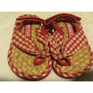 Gymboree Straw Crib Sandals Shoes Size 03 04 3 4 S